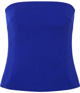 Akris Strapless Wool-blend Crepe Top - Blue