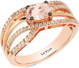 LeVian Le Vian 14K Rose Gold 0.82 Ct. Tw. Diamond & Morganite Ring