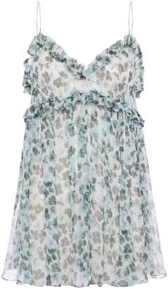 Lee Matthews Resort 19 Floral-Print Silk Camisole