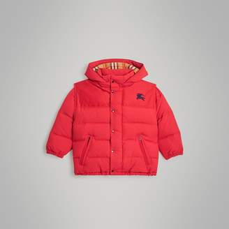 Burberry Childrens Detachable Hood Down-filled Puffer Jacket