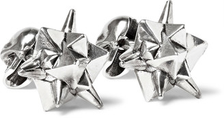 Alexander McQueen Stud and Skull Silver-Tone Cufflinks $415 thestylecure.com