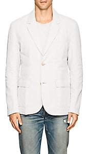 James Perse MEN'S LINEN DOWN TWO-BUTTON SPORTCOAT-WHITE SIZE 1