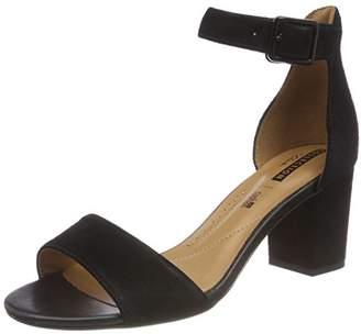 Clarks Women's Deva Mae Ankle Strap Heels, Black Suede