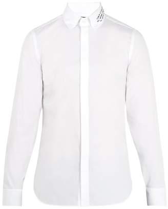 Gucci - Embroidered Collar Single Cuff Cotton Shirt - Mens - White