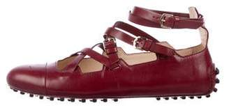 Tod's Leather Crossover Ballet Flats