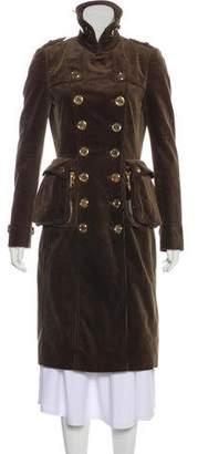 Burberry Corduroy Long Coat