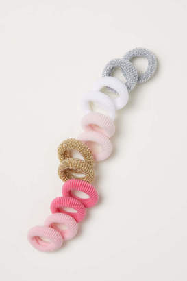 H&M 12-pack Hair Elastics - Light pink/multicolored - Kids