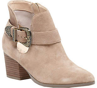 Sole Society Leather Ankle Boots - Jax