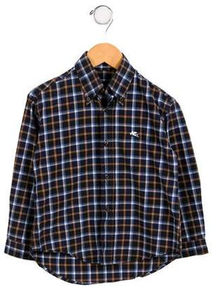 Etro Boys' Plaid Button-Up Shirt