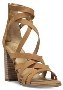 Franco Sarto Madrid Stacked Heel Leather Sandals