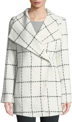Dex Reese Wide-Collar Check Coat
