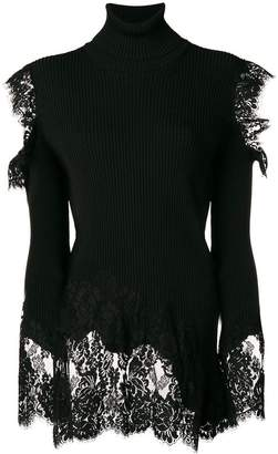 Philipp Plein lace detail jumper
