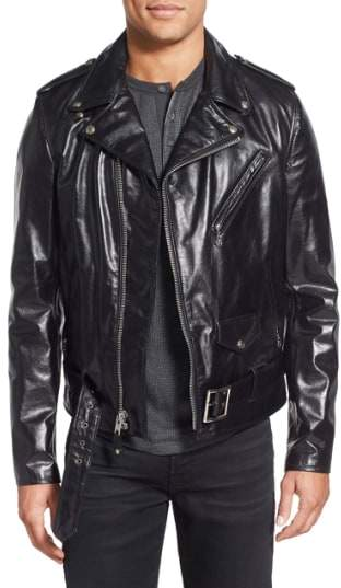 Perfecto Slim Fit Waxy Leather Moto Jacket