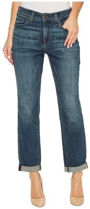 NYDJ Boyfriend Jeans in Crosshatch Denim in Desert Gold Women's Jeans