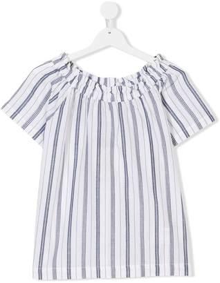 Woolrich Kids TEEN striped off-shoulder top