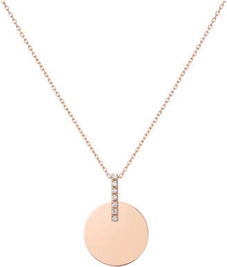 Aurate Gold Disk Necklace