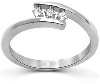 Trilogy JeenJewels Fancy Three Stone Diamond Ring 0.25 Carat Princess Cut Diamond on Gold