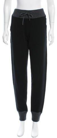 MonclerMoncler Wool & Cashmere-Blend Jogger Pants w/ Tags