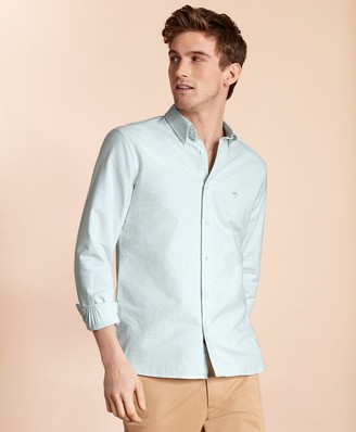 Brooks Brothers Striped Cotton Oxford Sport Shirt