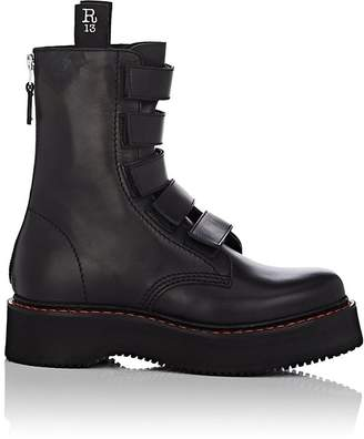 R 13 Women's Single Stack Leather Ankle Boots