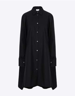 Maison Margiela Black Poplin Dress