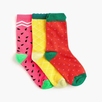 J.Crew Girls' trouser socks three-pack