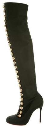 Christian Louboutin Woven Over-The-Knee Boots