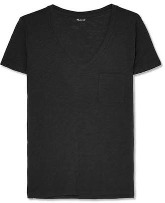 Madewell Whisper Slub Cotton-jersey T-shirt - Black