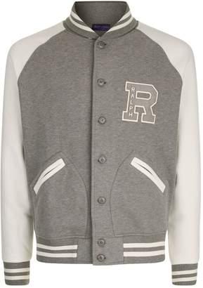 Ralph Lauren Purple Label Cotton Varsity Jacket