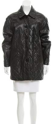 Burberry Oversize Leather Coat