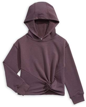 Jill Yoga Girl's Twist Front French Terry Hoodie