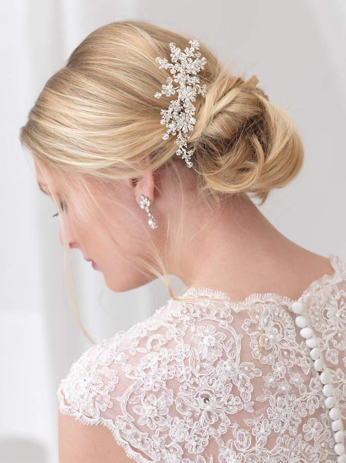 Etsy Swarovski Crystal Bridal Comb, Floral Bridal Hair Comb, Crystal Hair Comb, Bridal Hair Accessory, We