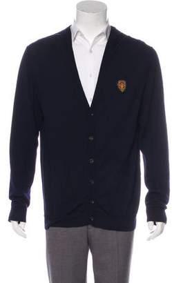Gucci Crest Patch Virgin Wool Cardigan