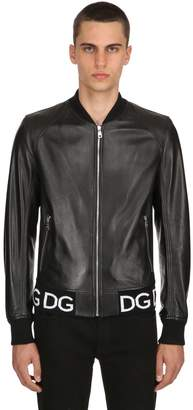 Dolce & Gabbana Nappa Leather Bomber Jacket