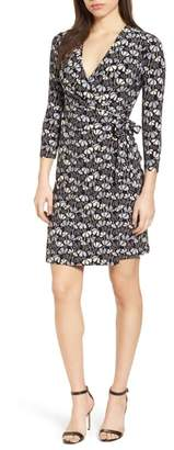 Anne Klein Flowerfall Faux Wrap Dress