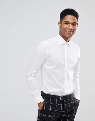 Reiss Slim Smart Shirt In White