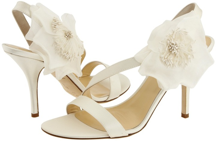 Kate Spade Lavish (Ivory Satin, Ivory Flower) - Footwear