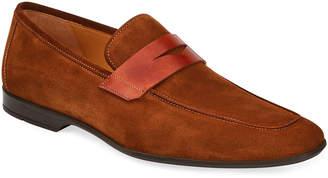 Magnanni Men's Slip-On Suede Penny Loafers