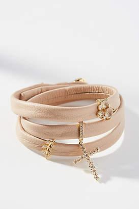 Anthropologie Charmed Leather Wrap Bracelet