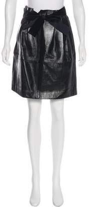Philosophy di Lorenzo Serafini Leather Knee-Length Skirt