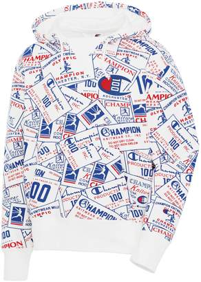 Champion Century Logo-Print Cotton-Blend Pullover Hoodie