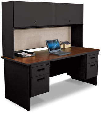 Marvel Office Furniture Pronto Credenza Desk with Hutch Top
