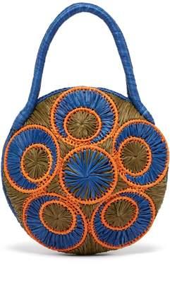 SOPHIE ANDERSON woven-raffia bag