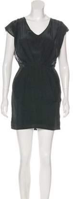 NO.6 STORE Silk Printed Mini Dress green Silk Printed Mini Dress
