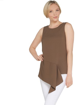 Lisa Rinna Collection Asymmetric Front Tank Top