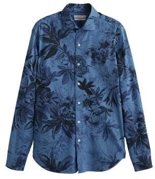 Mango Man MANGO MAN Hawaiian printed slim-fit shirt