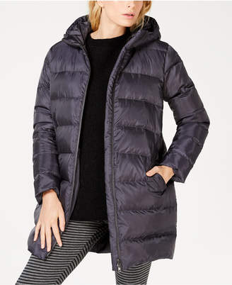 Eileen Fisher Recycled Polyester Hooded Cocoon Coat, Regular & Petite