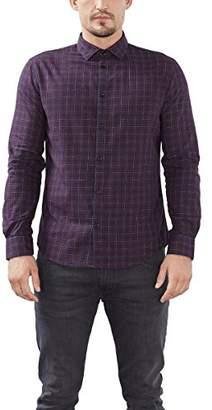 Esprit Men's 096EO2F006 Formal Shirt, Red (Garnet RED), (Manufacturer Size: 39)