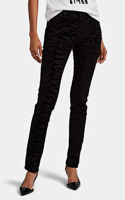 7bd9e707e3e Saint Laurent Women's Zebra-Flocked Skinny Jeans - Black