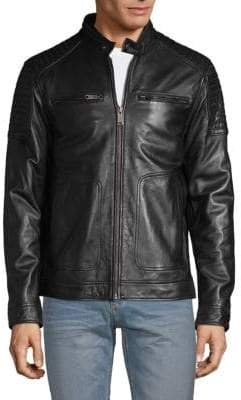 Rogue Textured Leather Jacket
